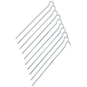 CAMPZ - Sardines lisses acier 25 cm - gris